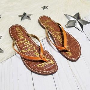 Sam Edelman Gracie thongs flipflops orange sandals